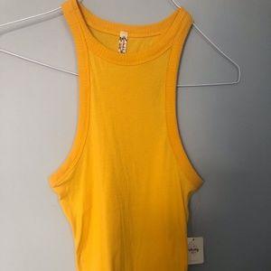 High Neck Mustard Yellow Tank Top